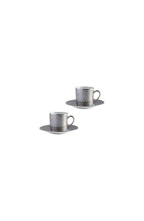 Набор divine из двух кофейных чашек с блюдцами BERNARDAUD серебряного цвета, арт. 1388/21957 | Фото 1