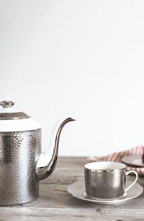 Кофейник divine BERNARDAUD серебряного цвета, арт. 1388/34 | Фото 2 (Ограничения доставки: fragile-2)