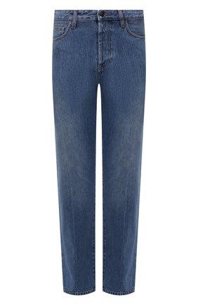 Мужские джинсы THE ROW синего цвета, арт. 286W1984 | Фото 1 (Материал внешний: Хлопок; Длина (брюки, джинсы): Стандартные; Кросс-КТ: Деним; Детали: Потертости; Силуэт М (брюки): Широкие; Стили: Минимализм)