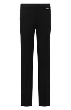 Мужские брюки из вискозы и шерсти VETEMENTS черного цвета, арт. MA52PA540B 1500 | Фото 1 (Материал внешний: Шерсть, Вискоза; Длина (брюки, джинсы): Стандартные; Материал подклада: Вискоза; Случай: Повседневный; Стили: Минимализм)