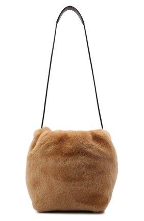 Женская сумка drawstring small JIL SANDER светло-коричневого цвета, арт. JSPT853407-WTB69163 | Фото 1 (Размер: small; Материал: Натуральный мех; Сумки-технические: Сумки через плечо)