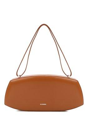 Женская сумка taos small JIL SANDER светло-коричневого цвета, арт. JSPT852602-WTB00083N | Фото 1 (Материал: Натуральная кожа; Размер: small; Сумки-технические: Сумки top-handle)
