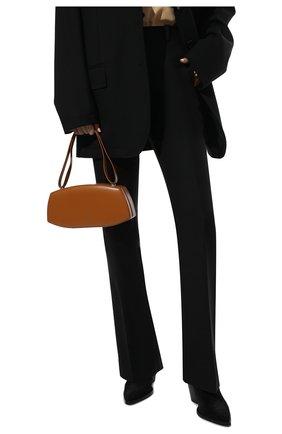 Женская сумка taos small JIL SANDER светло-коричневого цвета, арт. JSPT852602-WTB00083N | Фото 2 (Материал: Натуральная кожа; Размер: small; Сумки-технические: Сумки top-handle)