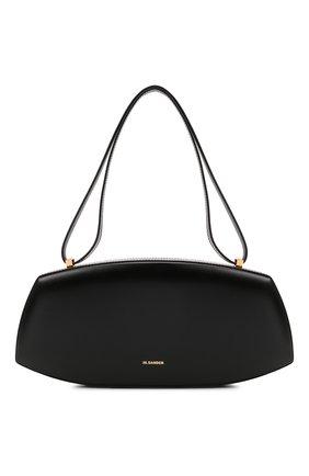 Женская сумка taos small JIL SANDER черного цвета, арт. JSPT852602-WTB00080N | Фото 1 (Материал: Натуральная кожа; Сумки-технические: Сумки top-handle; Размер: small)