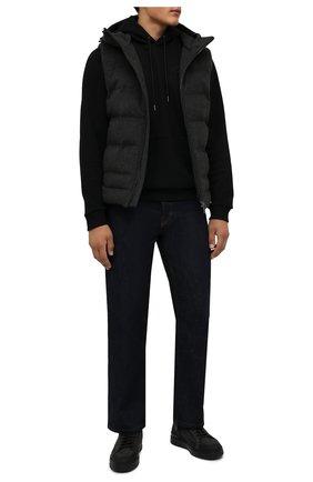 Мужские комбинированные кеды BARRETT темно-серого цвета, арт. CAR-10978.3/GUMMY | Фото 2 (Материал внутренний: Текстиль; Подошва: Массивная; Материал внешний: Текстиль)
