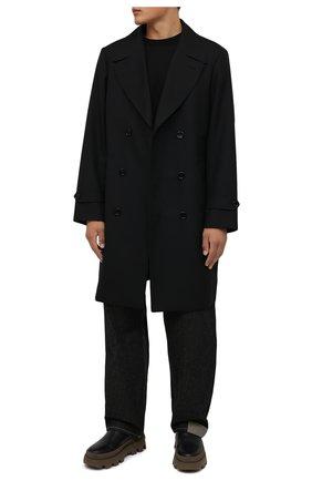 Мужская хлопковая футболка DRIES VAN NOTEN черного цвета, арт. 212-021165-3600   Фото 2 (Материал внешний: Хлопок; Длина (для топов): Удлиненные; Принт: Без принта; Рукава: Короткие; Стили: Минимализм)