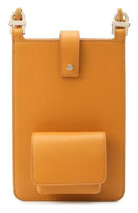Кожаный чехол для iphone LORO PIANA желтого цвета, арт. FAL8179   Фото 1 (Женское Кросс-КТ: Кожа iPhone)