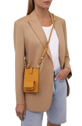 Кожаный чехол для iphone LORO PIANA желтого цвета, арт. FAL8179   Фото 2 (Женское Кросс-КТ: Кожа iPhone)