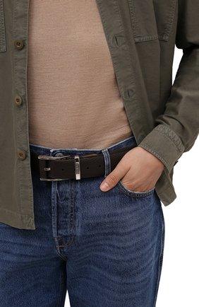 Мужской кожаный ремень ZILLI коричневого цвета, арт. MJL-CLAQE-01805/0076/120-130 | Фото 2 (Случай: Формальный)