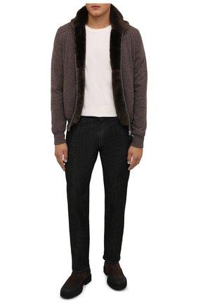 Мужские замшевые челси DOUCAL'S темно-коричневого цвета, арт. DU2911CENTPF556NM00 | Фото 2 (Подошва: Плоская; Материал внутренний: Натуральная кожа; Мужское Кросс-КТ: Сапоги-обувь, Челси-обувь; Материал внешний: Замша)