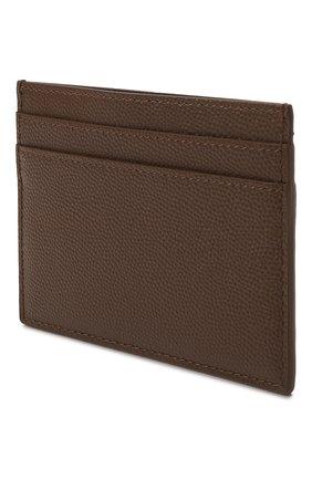 Мужской кожаный футляр для кредитных карт SAINT LAURENT коричневого цвета, арт. 375946/BTY0N | Фото 2