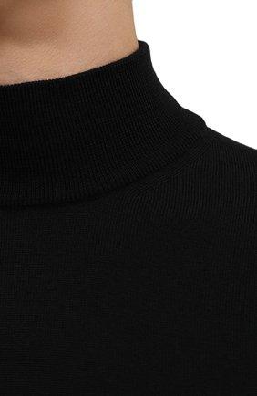Мужской шерстяная водолазка CORNELIANI черного цвета, арт. 88M503-1825100/00 | Фото 5 (Материал внешний: Шерсть; Рукава: Длинные; Принт: Без принта; Длина (для топов): Стандартные; Стили: Классический; Мужское Кросс-КТ: Водолазка-одежда)