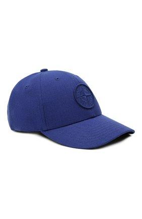 Мужской бейсболка STONE ISLAND синего цвета, арт. 751599675 | Фото 1 (Материал: Синтетический материал, Текстиль, Шерсть)