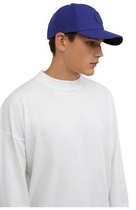 Мужской бейсболка STONE ISLAND синего цвета, арт. 751599675 | Фото 2 (Материал: Синтетический материал, Текстиль, Шерсть)