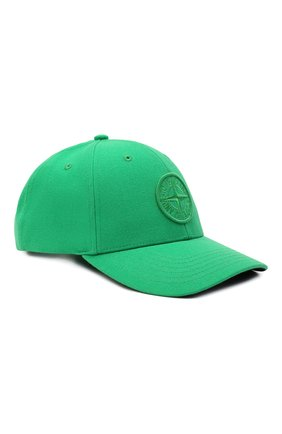Мужской бейсболка STONE ISLAND зеленого цвета, арт. 751599675 | Фото 1 (Материал: Синтетический материал, Текстиль, Шерсть)