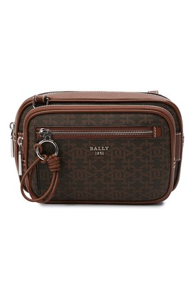 Мужская сумка hadds BALLY коричневого цвета, арт. HADDS/01   Фото 1 (Материал: Экокожа; Ремень/цепочка: На ремешке)