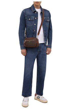 Мужская сумка hadds BALLY коричневого цвета, арт. HADDS/01   Фото 2 (Материал: Экокожа; Ремень/цепочка: На ремешке)