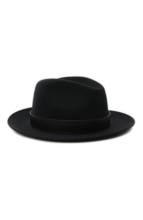 Мужская шерстяная шляпа BRIONI темно-синего цвета, арт. 04900L/01A4Q | Фото 1 (Материал: Шерсть)