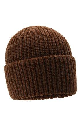 Мужская шерстяная шапка INVERNI коричневого цвета, арт. 5339 CM   Фото 1 (Материал: Шерсть; Кросс-КТ: Трикотаж)