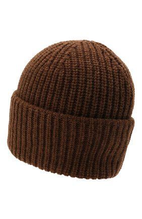 Мужская шерстяная шапка INVERNI коричневого цвета, арт. 5339 CM   Фото 2 (Материал: Шерсть; Кросс-КТ: Трикотаж)