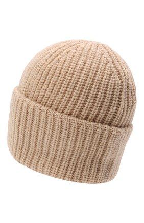 Мужская шерстяная шапка INVERNI светло-бежевого цвета, арт. 5339 CM   Фото 2 (Материал: Шерсть; Кросс-КТ: Трикотаж)