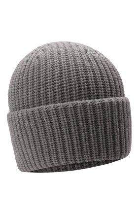Мужская кашемировая шапка INVERNI светло-серого цвета, арт. 5321 CM   Фото 1 (Материал: Шерсть, Кашемир; Кросс-КТ: Трикотаж)