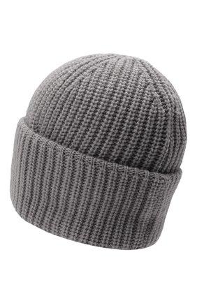 Мужская кашемировая шапка INVERNI светло-серого цвета, арт. 5321 CM   Фото 2 (Материал: Шерсть, Кашемир; Кросс-КТ: Трикотаж)
