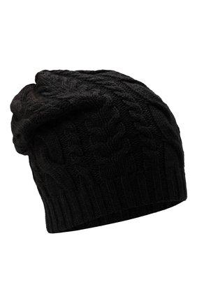 Мужская кашемировая шапка INVERNI черного цвета, арт. 3807 CM   Фото 1 (Материал: Кашемир, Шерсть; Кросс-КТ: Трикотаж)