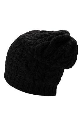 Мужская кашемировая шапка INVERNI черного цвета, арт. 3807 CM   Фото 2 (Материал: Кашемир, Шерсть; Кросс-КТ: Трикотаж)