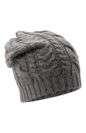Мужская кашемировая шапка INVERNI светло-серого цвета, арт. 3807 CM   Фото 1 (Материал: Кашемир, Шерсть; Кросс-КТ: Трикотаж)