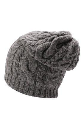 Мужская кашемировая шапка INVERNI светло-серого цвета, арт. 3807 CM   Фото 2 (Материал: Кашемир, Шерсть; Кросс-КТ: Трикотаж)