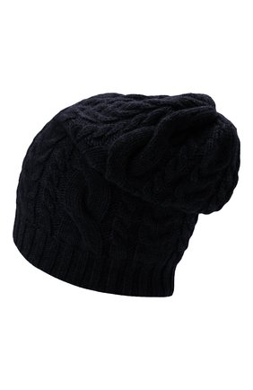 Мужская кашемировая шапка INVERNI темно-синего цвета, арт. 3807 CM   Фото 2 (Материал: Шерсть, Кашемир; Кросс-КТ: Трикотаж)
