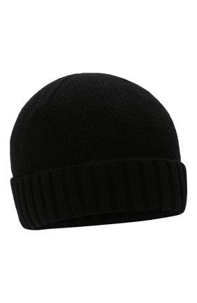 Мужская кашемировая шапка INVERNI черного цвета, арт. 2528 CM   Фото 1 (Материал: Шерсть, Кашемир; Кросс-КТ: Трикотаж)