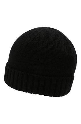 Мужская кашемировая шапка INVERNI черного цвета, арт. 2528 CM   Фото 2 (Материал: Шерсть, Кашемир; Кросс-КТ: Трикотаж)