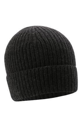 Мужская кашемировая шапка DANIELE FIESOLI темно-серого цвета, арт. WS 8010   Фото 1 (Материал: Шерсть, Кашемир; Кросс-КТ: Трикотаж)