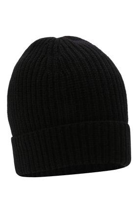 Мужская кашемировая шапка DANIELE FIESOLI черного цвета, арт. WS 8010   Фото 1 (Материал: Шерсть, Кашемир; Кросс-КТ: Трикотаж)