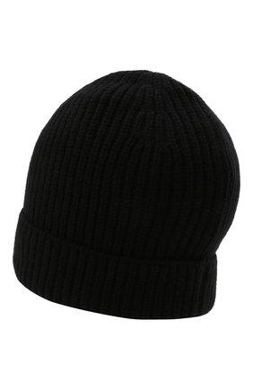 Мужская кашемировая шапка DANIELE FIESOLI черного цвета, арт. WS 8010   Фото 2 (Материал: Шерсть, Кашемир; Кросс-КТ: Трикотаж)