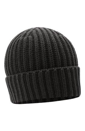 Мужская кашемировая шапка THE ROW темно-серого цвета, арт. 262F377 | Фото 1 (Материал: Шерсть, Кашемир; Кросс-КТ: Трикотаж)