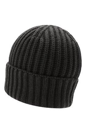 Мужская кашемировая шапка THE ROW темно-серого цвета, арт. 262F377 | Фото 2 (Материал: Шерсть, Кашемир; Кросс-КТ: Трикотаж)