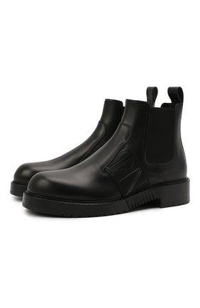 Мужские кожаные челси VALENTINO черного цвета, арт. WY2S0E72/PPW | Фото 1 (Материал внутренний: Натуральная кожа; Мужское Кросс-КТ: Сапоги-обувь, Челси-обувь; Подошва: Плоская)