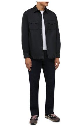 Мужские комбинированные кроссовки lucy PREMIATA синего цвета, арт. LUCY/VAR5499 | Фото 2 (Материал внешний: Текстиль; Подошва: Массивная; Материал внутренний: Натуральная кожа; Стили: Гранж)