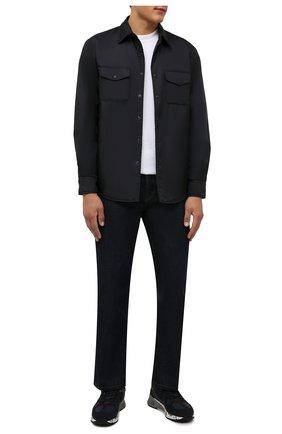 Мужские комбинированные кроссовки mase PREMIATA темно-синего цвета, арт. MASE/VAR5399 | Фото 2 (Материал внутренний: Натуральная кожа; Материал внешний: Текстиль; Стили: Гранж; Подошва: Массивная)