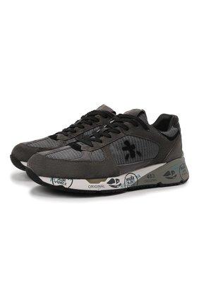Мужские комбинированные кроссовки mase PREMIATA темно-серого цвета, арт. MASE/VAR5400 | Фото 1 (Материал внешний: Текстиль; Материал внутренний: Натуральная кожа; Стили: Гранж; Подошва: Массивная)