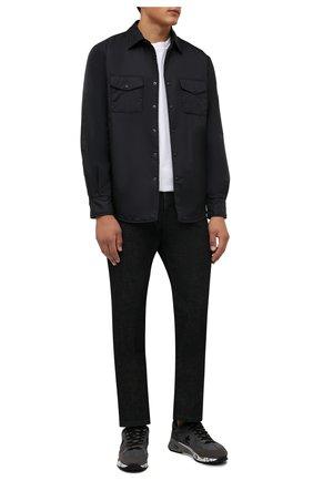 Мужские комбинированные кроссовки mase PREMIATA темно-серого цвета, арт. MASE/VAR5400 | Фото 2 (Материал внешний: Текстиль; Материал внутренний: Натуральная кожа; Стили: Гранж; Подошва: Массивная)