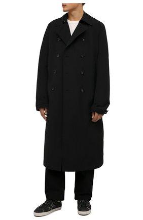 Мужские замшевые кеды steven PREMIATA темно-серого цвета, арт. STEVEN/VAR5537 | Фото 2 (Подошва: Плоская; Материал утеплителя: Натуральный мех; Материал внешний: Замша)