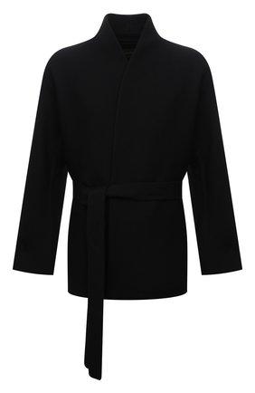 Мужской шерстяное пальто ZEGNA COUTURE черного цвета, арт. 287000/4E27N0 | Фото 1 (Материал подклада: Шелк; Материал внешний: Шерсть; Длина (верхняя одежда): Короткие; Рукава: Длинные; Мужское Кросс-КТ: пальто-верхняя одежда; Стили: Кэжуэл)
