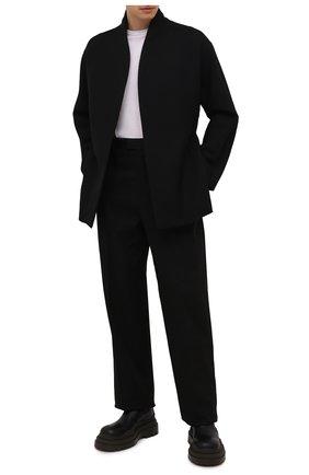 Мужской шерстяное пальто ZEGNA COUTURE черного цвета, арт. 287000/4E27N0 | Фото 2 (Материал подклада: Шелк; Материал внешний: Шерсть; Длина (верхняя одежда): Короткие; Рукава: Длинные; Мужское Кросс-КТ: пальто-верхняя одежда; Стили: Кэжуэл)