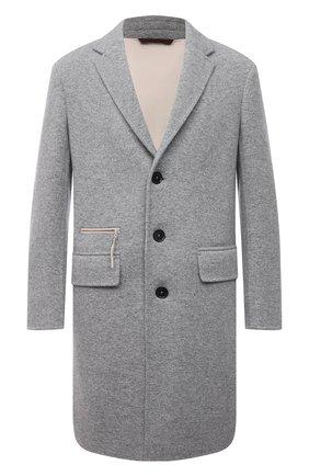 Мужской пальто из кашемира и шерсти ERMENEGILDO ZEGNA серого цвета, арт. 277019/4EBCS0 | Фото 1 (Материал внешний: Кашемир, Шерсть; Материал подклада: Синтетический материал; Мужское Кросс-КТ: пальто-верхняя одежда; Длина (верхняя одежда): До колена; Рукава: Длинные; Стили: Кэжуэл)
