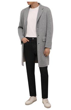 Мужской пальто из кашемира и шерсти ERMENEGILDO ZEGNA серого цвета, арт. 277019/4EBCS0 | Фото 2 (Материал внешний: Кашемир, Шерсть; Материал подклада: Синтетический материал; Мужское Кросс-КТ: пальто-верхняя одежда; Длина (верхняя одежда): До колена; Рукава: Длинные; Стили: Кэжуэл)