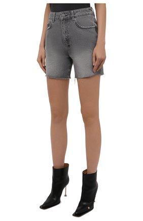 Женские джинсовые шорты KSUBI серого цвета, арт. 5000006254 | Фото 3 (Женское Кросс-КТ: Шорты-одежда; Кросс-КТ: Деним; Длина Ж (юбки, платья, шорты): Мини; Стили: Гранж; Материал внешний: Хлопок)